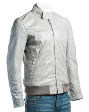 Fashionable Men's Leather Jacket