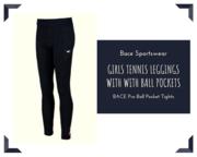 Buy Tennis Leggings | Girls Black Leggings | Bace Sportswear